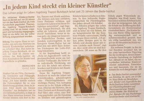 Förderpreis der Lotto Rheinland-Pfalz Stiftung